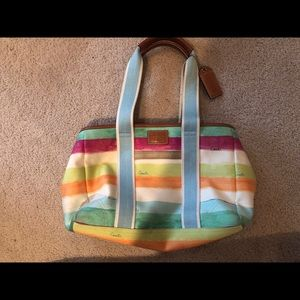 Coach watercolor tote in great condition
